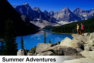 Summer sightseeing tours, activities and attractions in the Canadian Rockies